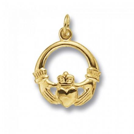Yellow Gold Pendants -Claddagh, PN460